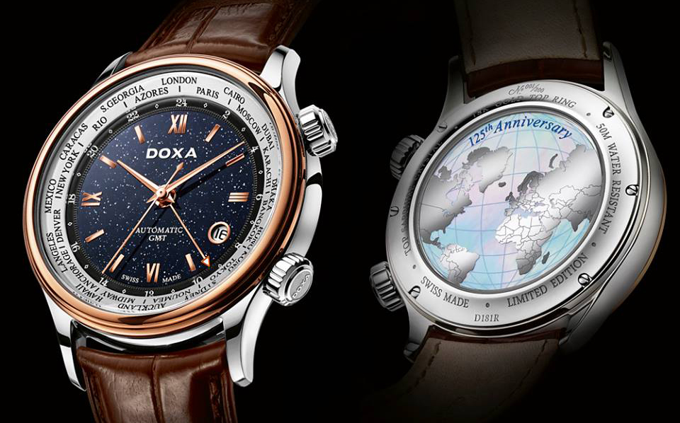 Ceas barbatesc Doxa Blue Planet GMT
