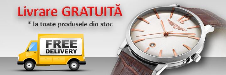 livrare gratuita la toate ceasurile din stoc