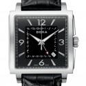 Ceas barbatesc Doxa Quadro II Automatic GMT Steel Black