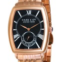 Ceas Haas Cie Columbus Men Rose Gold Black