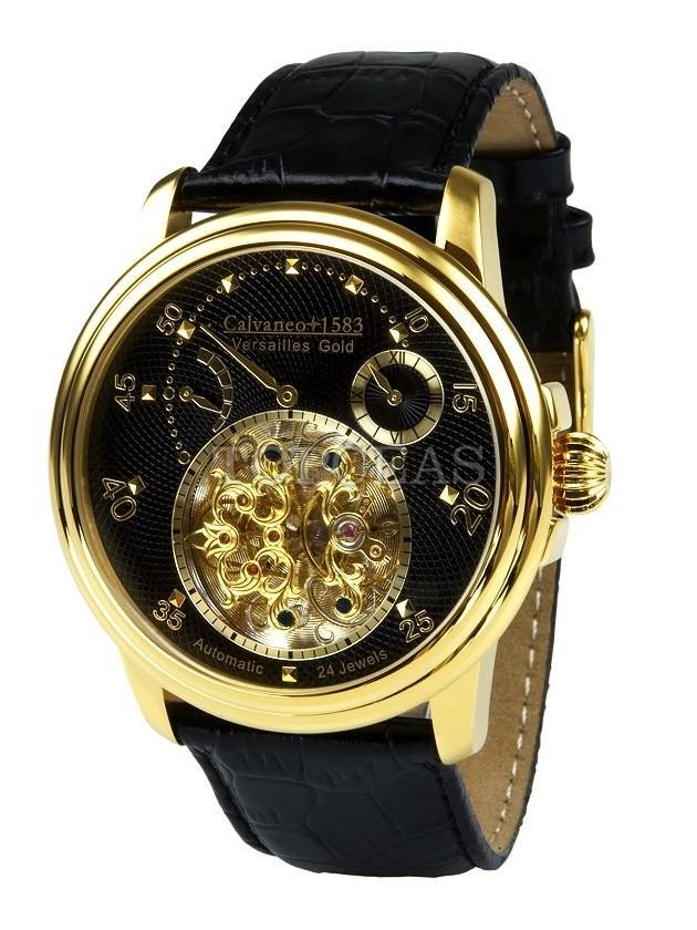 Produse noi design atemporal stilul rafinat Ceas Calvaneo 1583 Versailles Gold - ceas barbatesc