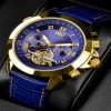 Ceas Calvaneo 1583 Astonia Gold Blue - poza #4