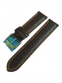 Poze Curea de piele Calvaneo 1583 Curea 22mm Black Scaled