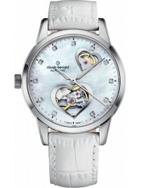 Poze Ceas de dama Claude Bernard Dress Code Open Heart 85018 3 NAPN2