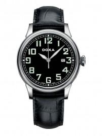 Poze Ceas barbatesc Doxa Pilot Vintage Steel Black
