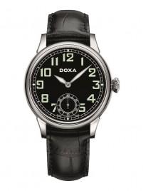 Poza ceas Doxa Pilot Vintage Steel Black 2