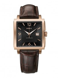 Poza ceas Doxa Quadro II Automatic Gold Black