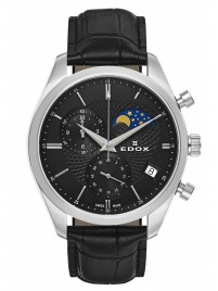 Poze Ceas barbatesc Edox Les Vauberts Chronograph Mondphase Date Quarz 01655 3 NIN