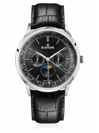 Poze Ceas barbatesc Edox Les Vauberts Moon Phase Complication 40101 3C NIN