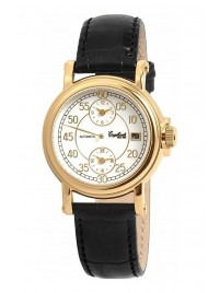 Poze Ceas barbatesc Engelhardt Harold Gold Black Leather