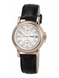 Poze Ceas barbatesc Engelhardt Harold Rose Gold Black Leather