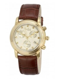 Poze Ceas barbatesc Engelhardt Ira Diamond Gold White Brown Leather