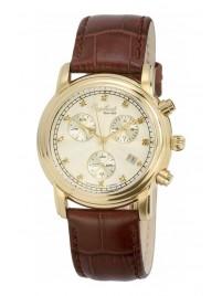 Poze Ceas barbatesc Engelhardt Ira Diamond Gold White Brown Leather