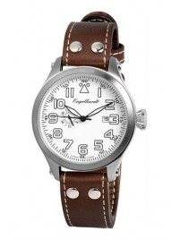 Poze Ceas barbatesc Engelhardt James Steel White Brown Leather