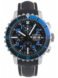 Poze Ceas barbatesc Fortis Aquatis Marinemaster Chronograph Blue 671.15.45 L.01