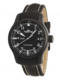 Poze Ceas barbatesc Fortis B42 Flieger Black Automatic DayDate Limited Edition 655.18.91 L.01