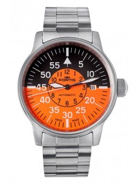 Poze Ceas barbatesc Fortis Flieger Cockpit Orange Date 595.11.13 M