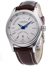 ceas Armand Nicolet M02 Day-Date Steel White Leather