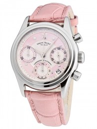 ceas Armand Nicolet M03 Date Chrono Steel Pink