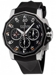 ceas Corum Admirals Cup Chrono Steel Black 2