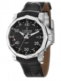 ceas Corum Admirals Cup GMT Steel Black