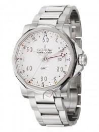 ceas Corum Admirals Cup GMT Steel White Bracelet
