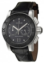 ceas Corum Romulus Chronograph Steel Black 2