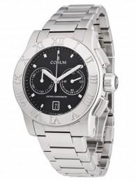 ceas Corum Romulus Chronograph Steel Black Bracelet