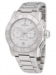 ceas Corum Romulus Chronograph Steel White Bracelet