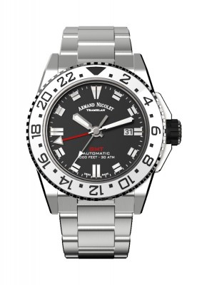 poza Armand Nicolet JS9 GMT Date Automatic A486CGNNRMA4480AA