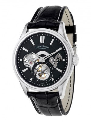 poza Armand Nicolet L08 Small Seconds Steel Black