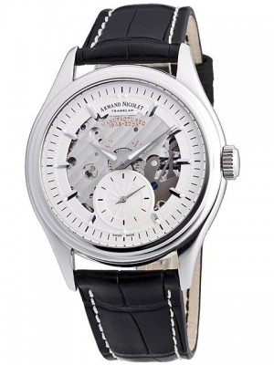 poza ceas Armand Nicolet LE Small Second White Gold