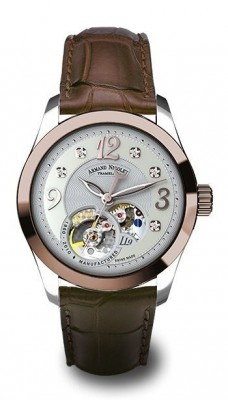 poza ceas Armand Nicolet LL9 Central Seconds Gold Steel White