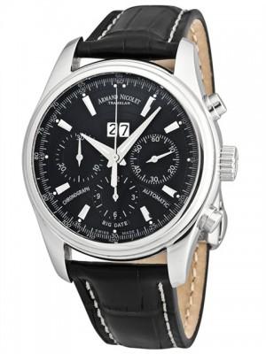 poza ceas Armand Nicolet M02 Chronograph Date Steel Black