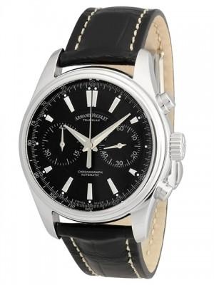 poza ceas Armand Nicolet M02 Chronograph Steel Black