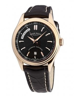poza Armand Nicolet M02 Day-Date Gold Black