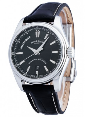 poza Armand Nicolet M02 Day Date Steel Black 2