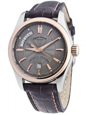 poza ceas Armand Nicolet M02 Day-Date Steel Rose
