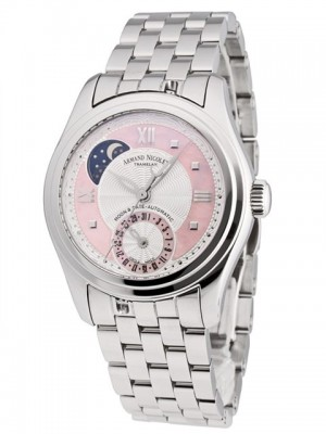 poza ceas Armand Nicolet M02 Moon Date Lady Pink 2