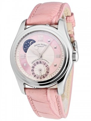 poza Armand Nicolet M02 Moon Date Lady Pink 3