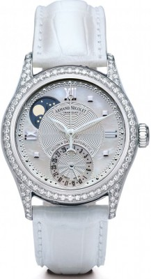 poza Armand Nicolet M02 Moon Date Lady Steel Silver
