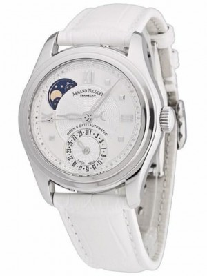 poza Armand Nicolet M02 Moon Date Lady Steel White