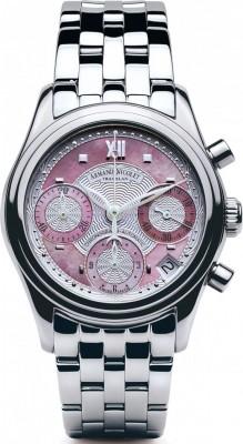 poza ceas Armand Nicolet M03 Chrono Steel Pink