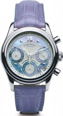 poza ceas Armand Nicolet M03 Chronograph Steel Blue
