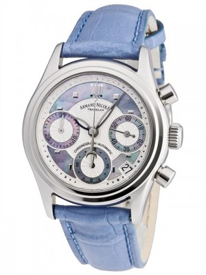 poza Armand Nicolet M03 Date Chrono Steel Blue