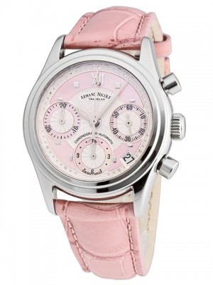 poza Armand Nicolet M03 Date Chrono Steel Pink