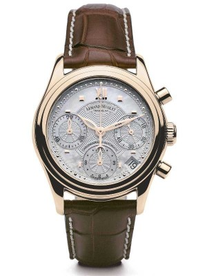 poza Armand Nicolet M03 Date Chronograph 18kt Gold 7154AANP915MR8