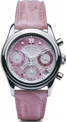 poza ceas Armand Nicolet M03 Date Chronograph Steel Pink
