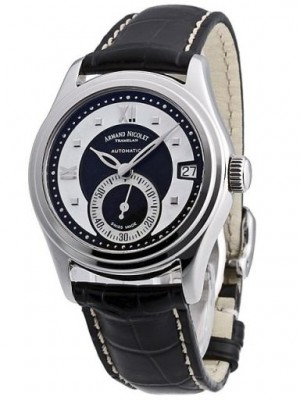 poza ceas Armand Nicolet M03 Small Seconds Date Steel Black