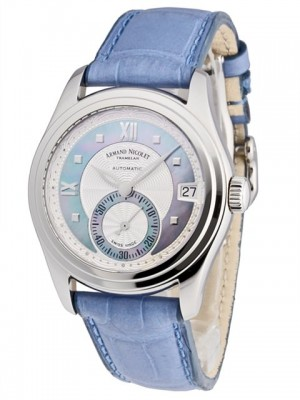poza ceas Armand Nicolet M03 Small Seconds Date Steel Blue 2